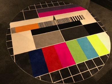 Test pattern carpet at the Ruby Lilly hotel Munich