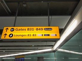 Sign to the B Gates at Heathrow Terminal 2