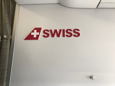 Swiss logo on A320 bulkhead