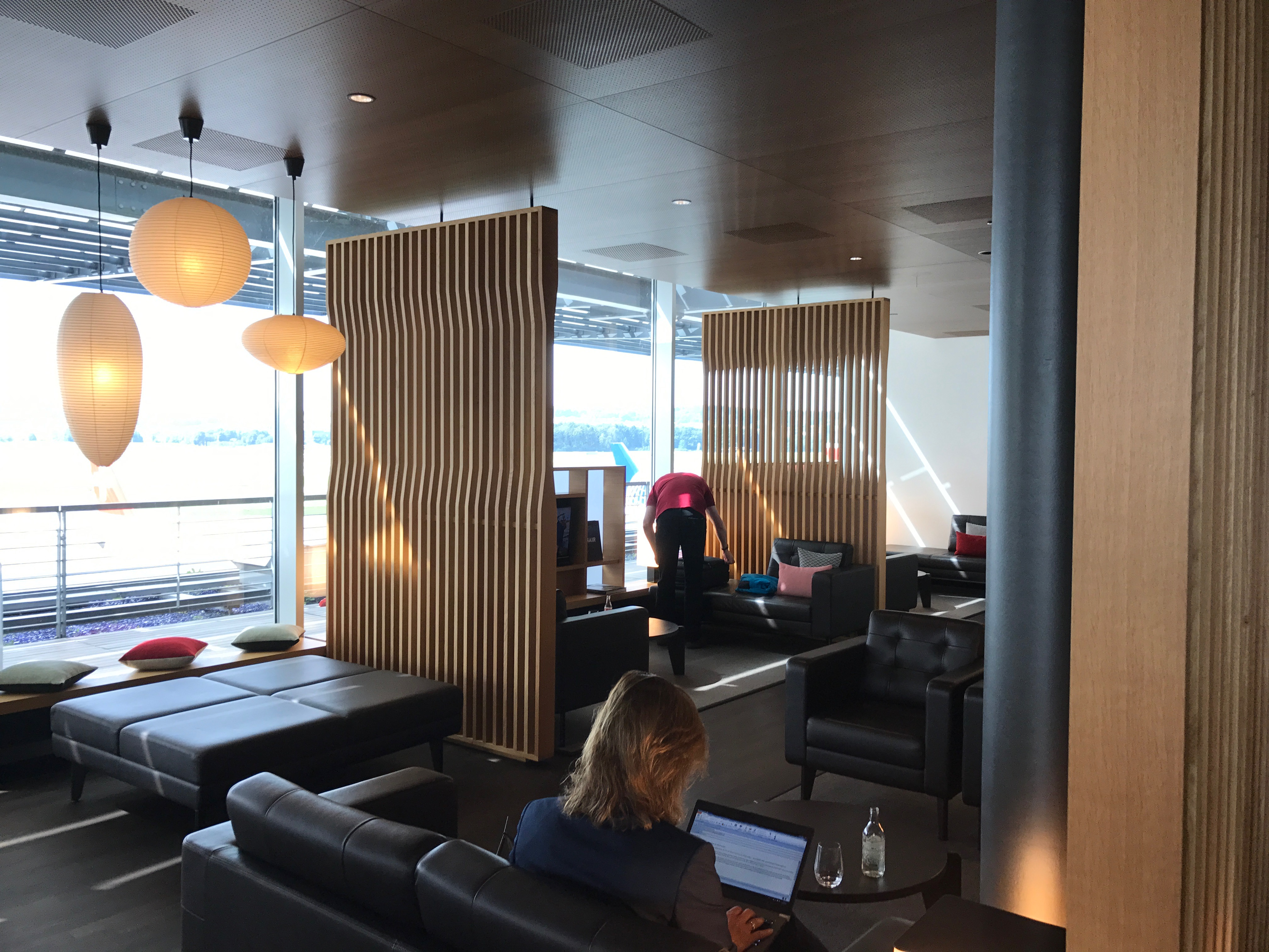 Swiss First Class Lounge at Zurich seating area