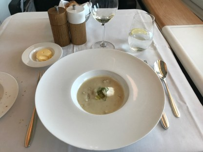 Swiss first class celeriac and fennel soup