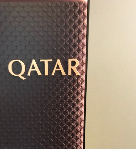 Qatar branding on boarding
