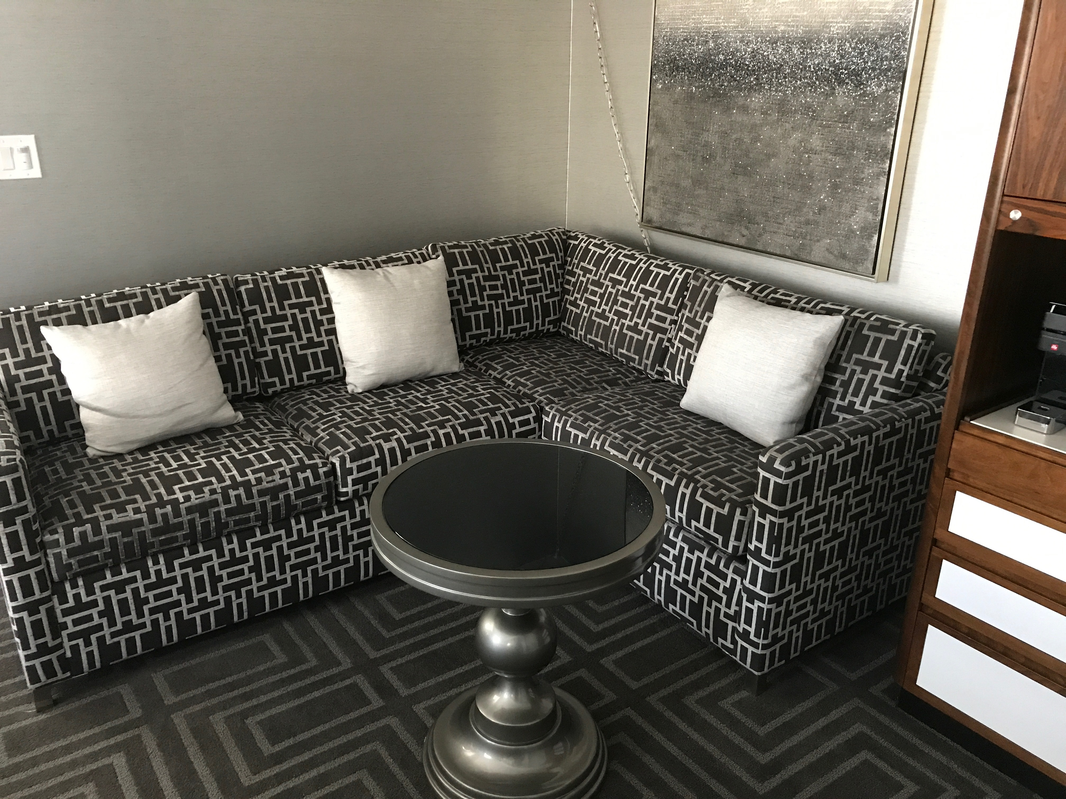 JW Marriott San Francisco suite table and couch