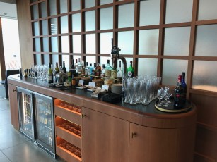 bar selection in the first class lounge