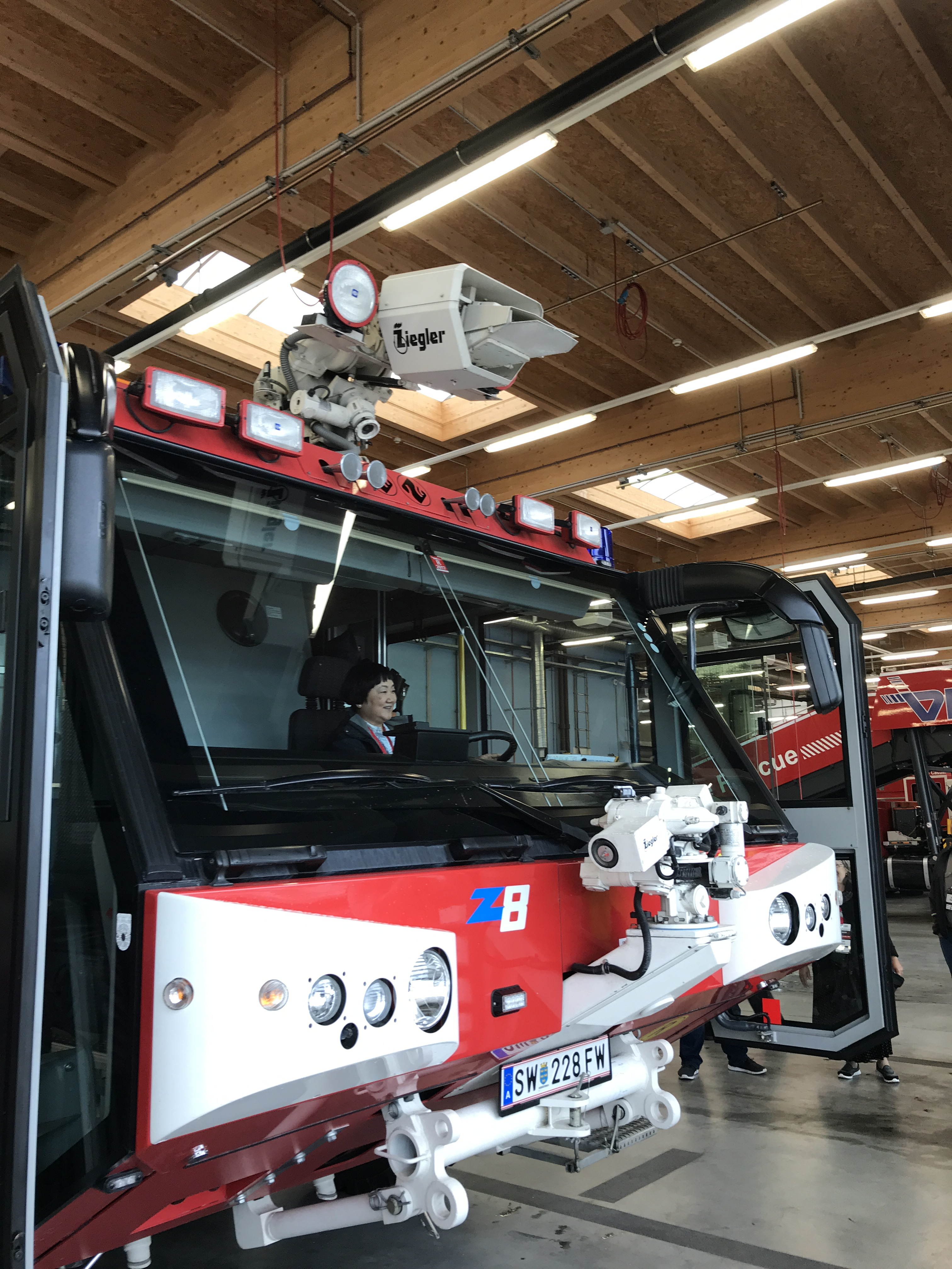 Vienna Airport Fire Truck used for spraying emergency foam