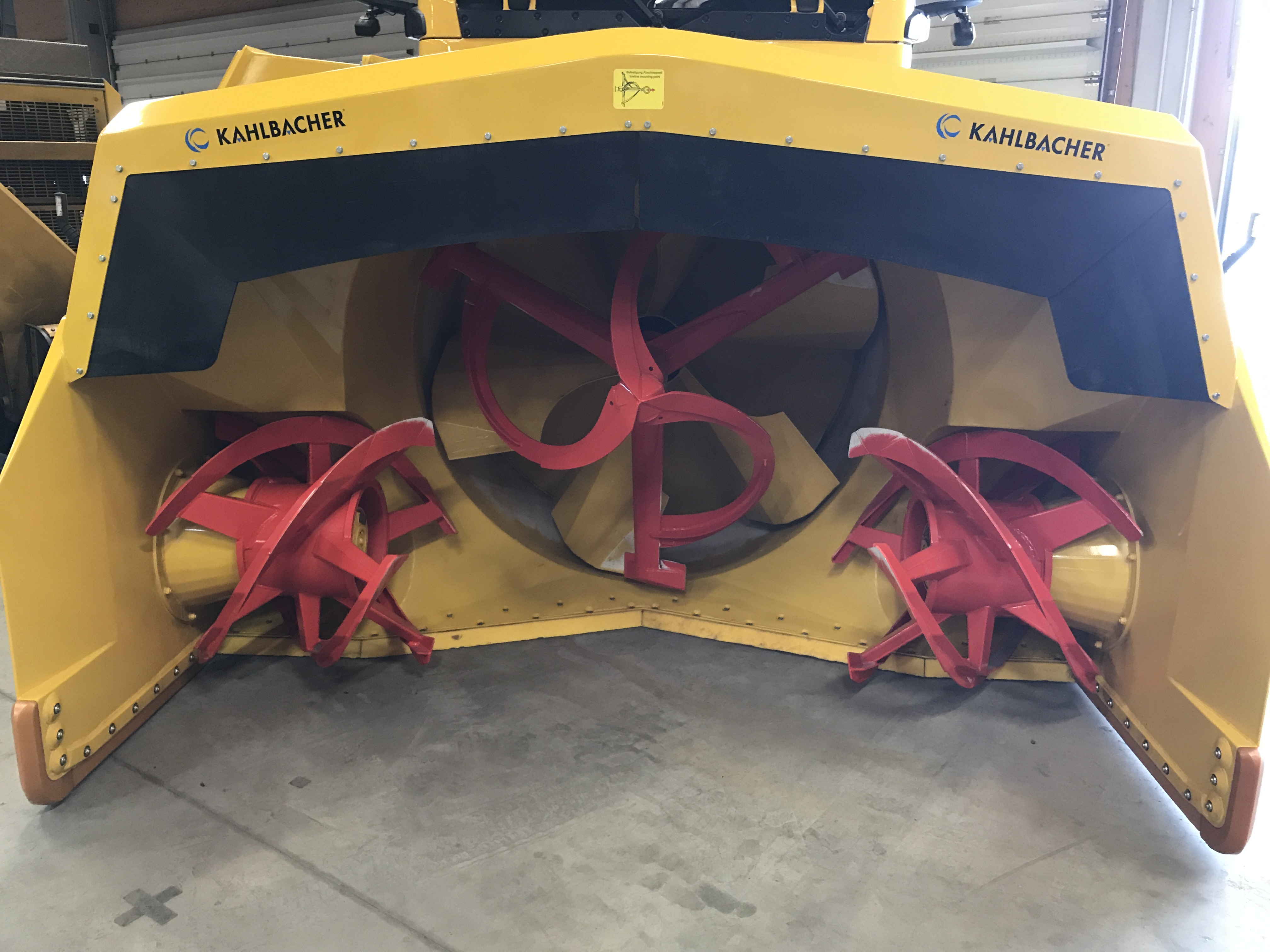 snow plough with special blades for clearing deep snow