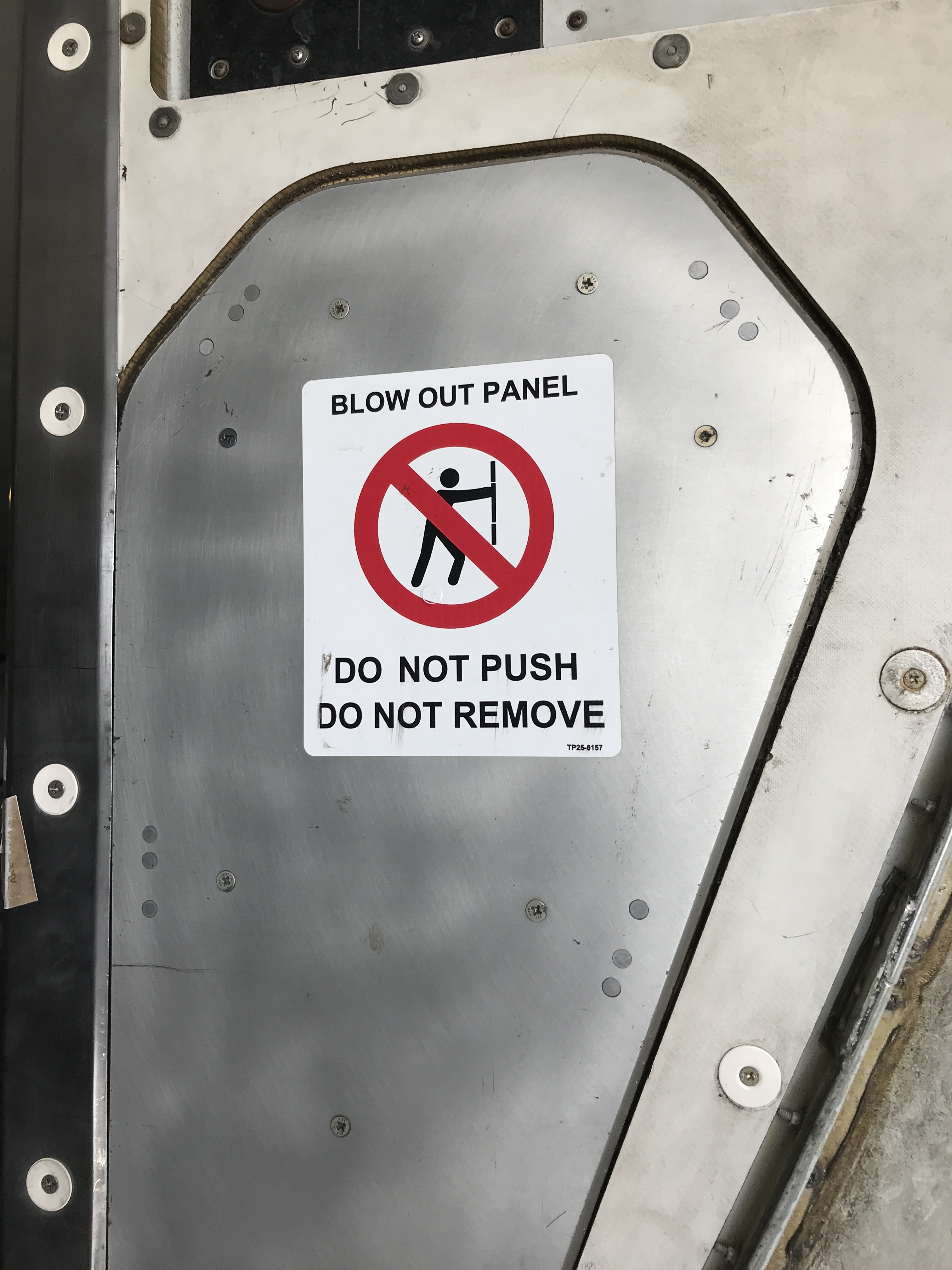 Blow out panel do not remove on A330