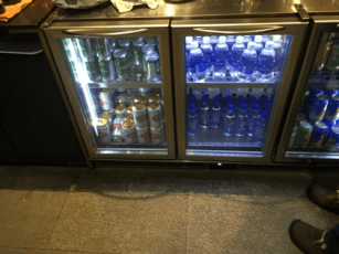 Vietnam Airlines business class lounge soft drink selection