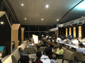 Vietnam airlines business class lounge seating area