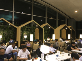 Vietnam airlines business class lounge dining area
