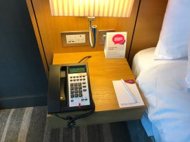 Crowne Plaza Newcastle telephone and USB ports