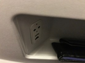 Qatar Airways 777-200 business class USB socket