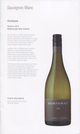 Qatar Airways Business Class Wine list sauvignon blanc