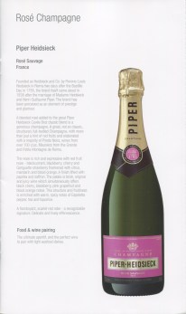 Qatar Airways Business Class Wine list rosé champagne