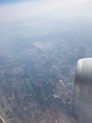 View of Beijing from the air