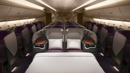 Singapore Airlines new A380 double bed business class
