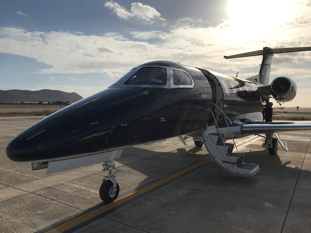 Surf Air Embraer Phenom 300 G-SRFA at Ibiza