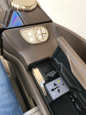 Interior controls and power socket on the Phenom 300
