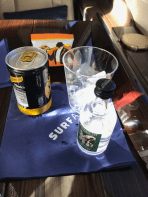 Surf Air gin and tonic