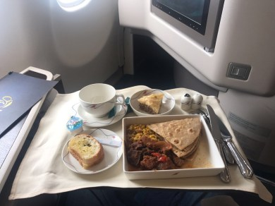 Sri Lankan airways business class meal