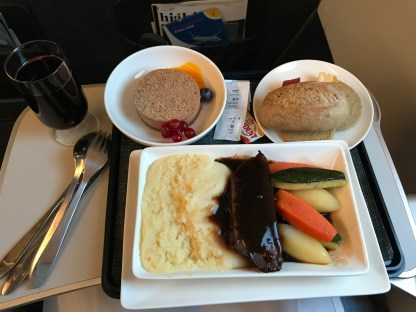"British Airways Club Europe ""Long"" Band food"