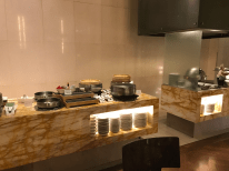 Singapore Airlines First Class lounge refectory area