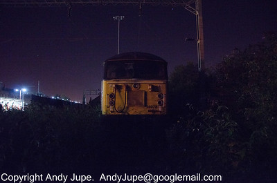 56 078 sits amongst the buddleia in the station siding at Rugby in the early hours of the 5th of September 2012