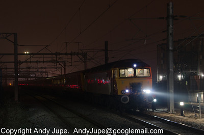 57 308 stands at Rugby whilst working 5A39 21:45 Crewe to Wembley empty coaching stock move on the 2nd March 2012