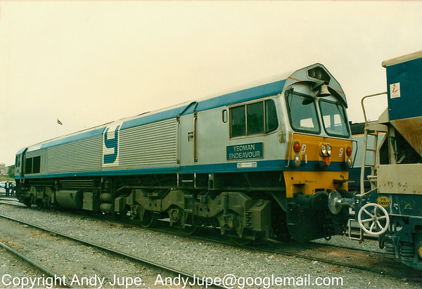 59 001 sits at Merehead Depot on the 28th of June 1986.