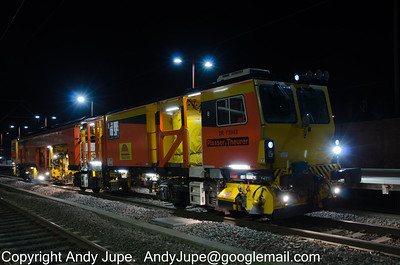 ZWA-B DR73948 sits at Rugby awaiting permission to enter the possession in the early hours of the 4th March 2012