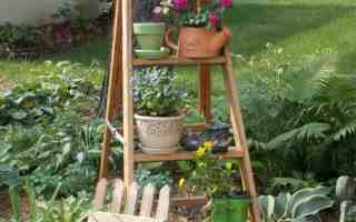 Garden Vignettes Using Flea Market Finds