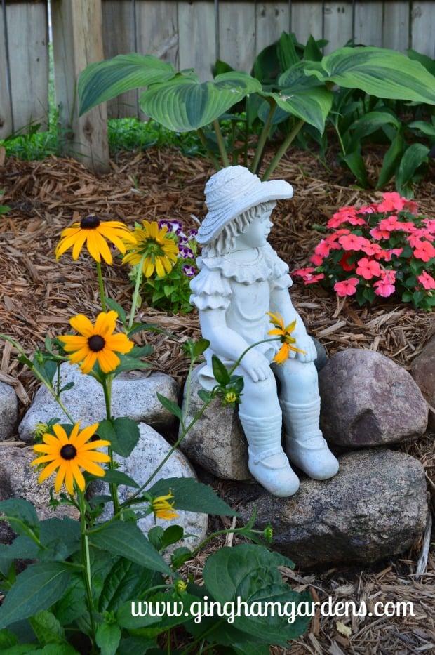 Gardening Recap - Garden Vignette at Gingham Gardens