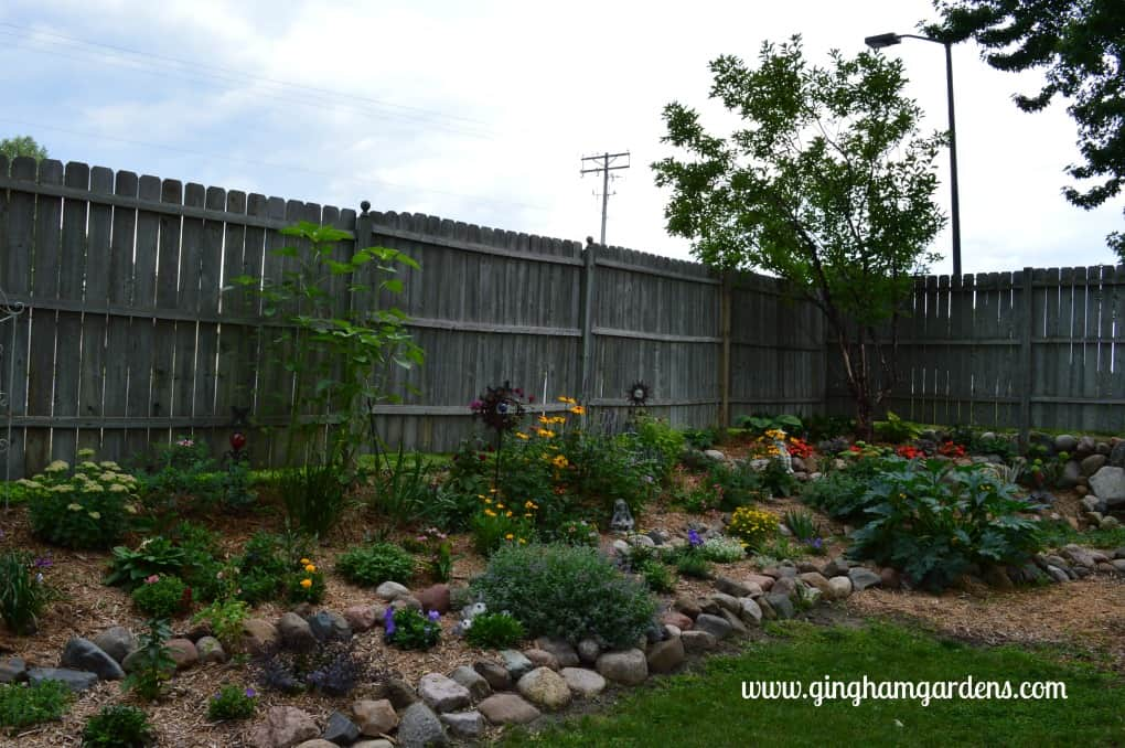 Tiered flower bed at Gingham Gardens