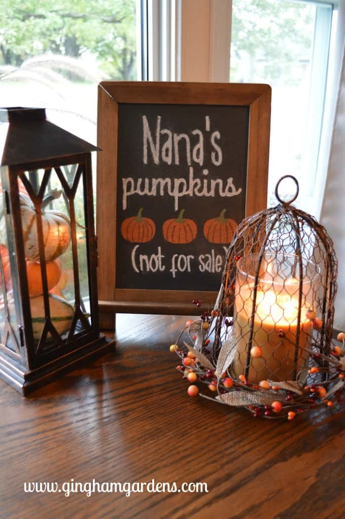 Fall Decor Vignette