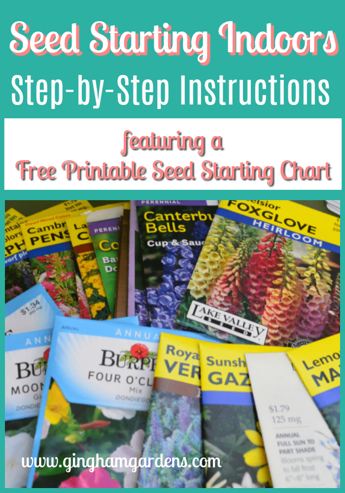 This is a picture of Gorgeous Printable Seed Starting Chart