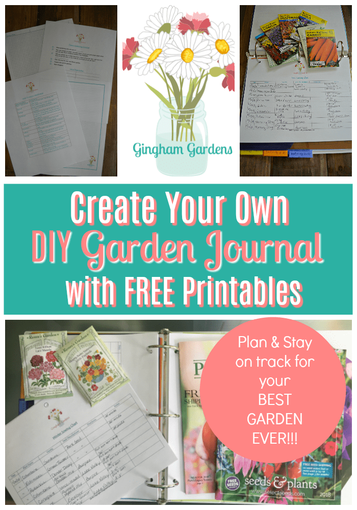 Garden Journal Printables - Gingham Gardens