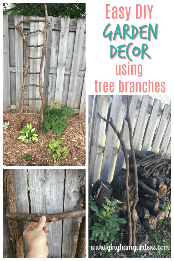 Easy DIY Garden Decor Using Tree Branches