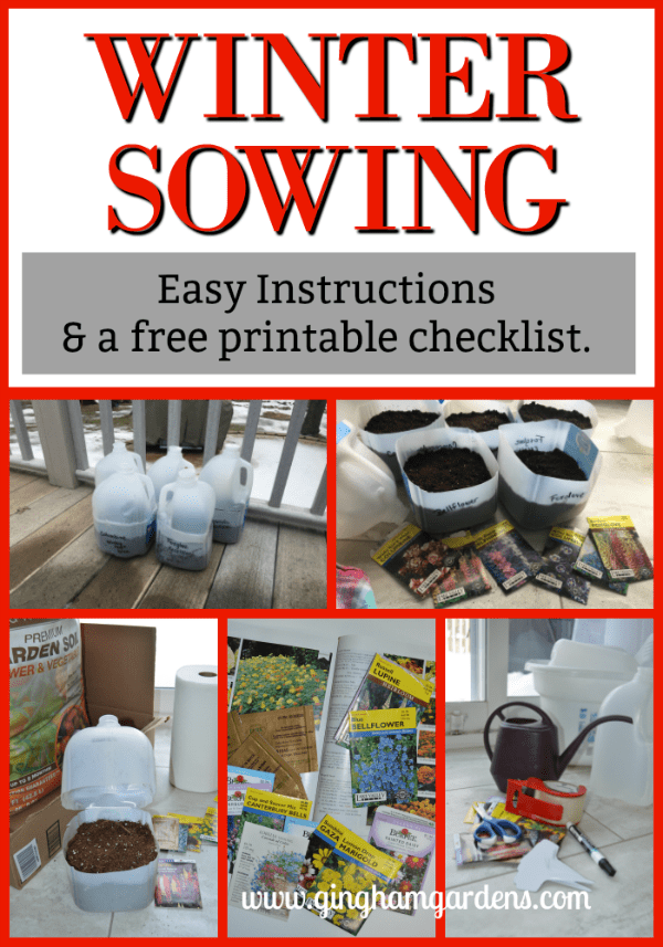 Winter Sowing - Easy Instructions and a Free Printable Checklist
