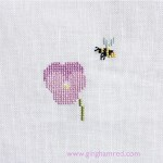 Cross stitch Kazuko Aoki pansies