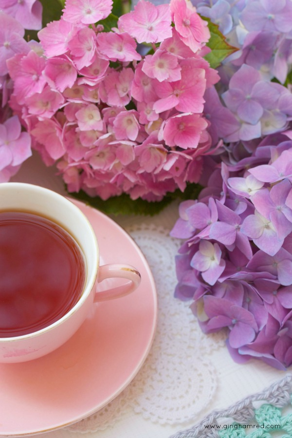 tea and pink