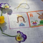 Q is for Queen Cross Stitch Alphabet Letter