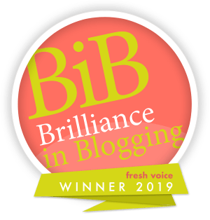 GinGin and Roo Award Winning Blog - Brilliance in Blogging Awards Fresh Voice 2019