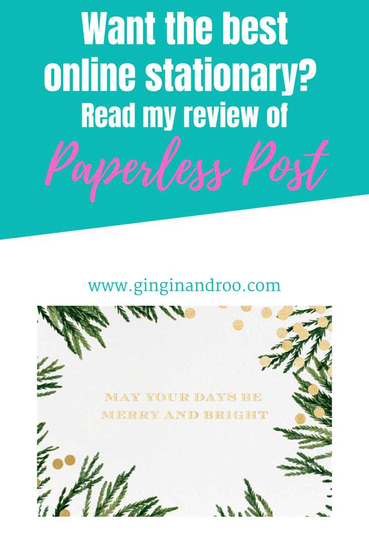 Eco-Friendly Cards and Stationery from Paperless Post - A Review from the award-winning blog GinGin & Roo