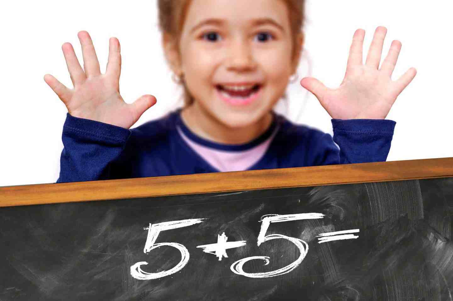 Girl with maths sums