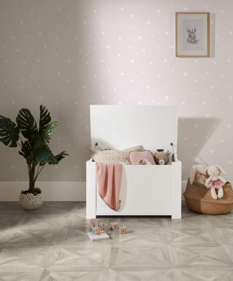 Mamas & Papas White Toy Chest for toy storage ideas by GinGin & Roo
