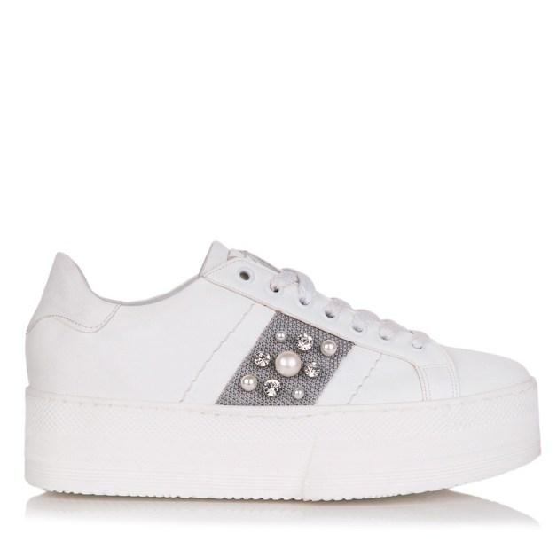 3b1f9684af3 GRUMMAN 99071 ΛΕΥΚΟ-ΓΚΡΙ. Sneakers, Γυναικεία παπούτσια