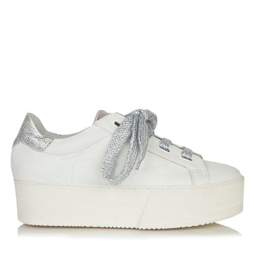 4f540f693c4 GRUMMAN 99051 ΛΕΥΚΟ-ΑΣΗΜΙ. Sneakers, Γυναικεία παπούτσια