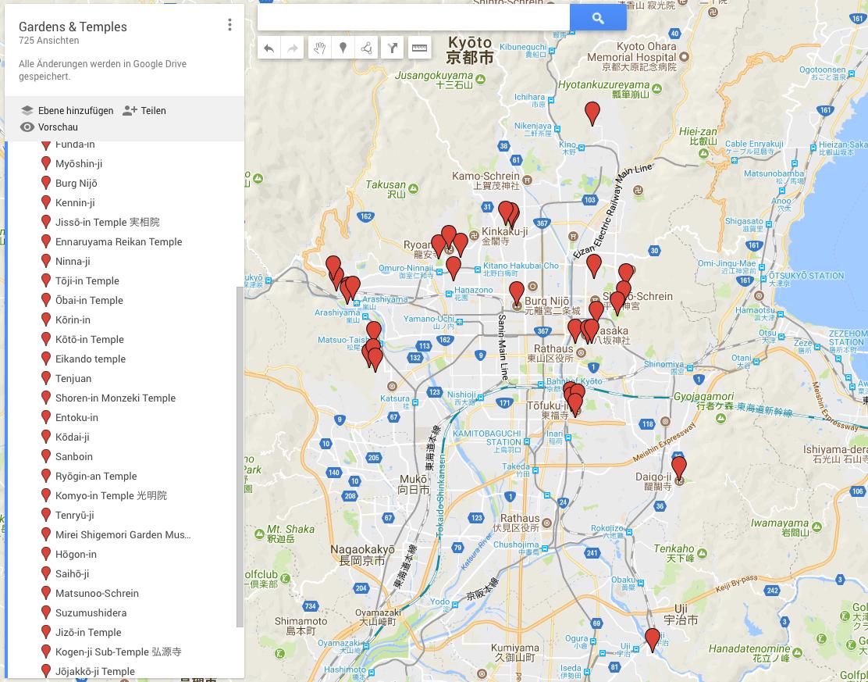 Kyoto Garden Map