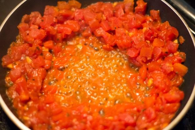Smoked Gouda Pasta - Sauteed Tomatoes 2