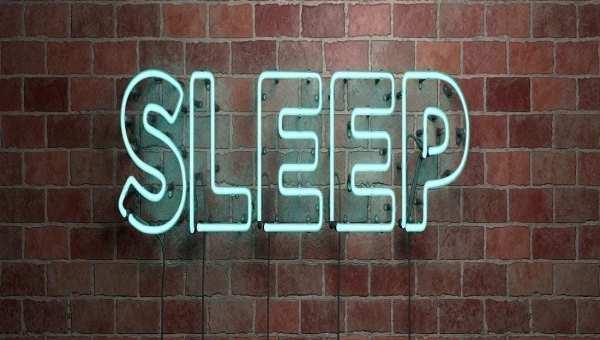 Sleep in neon sign